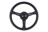 NARDI CLASSICO 365MM STEERING WHEEL - BLACK LEATHER / BLACK SPOKES / BLACK STITCH