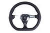 NARDI BASIC KALLISTA 350MM STEERING WHEEL - BLACK LEATHER / POLISHED SPOKES