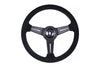 NARDI CLASSIC STEERING WHEEL - BLACK SUEDE / BLACK STITCH