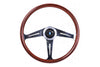 NARDI CLASSIC ND 367 360MM WOOD STEERING WHEEL W/POLISHED SPOKES