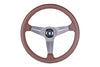 NARDI DEEP CORN REVOLUTION BROWN LEATHER STEERING WHEEL