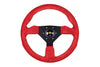 Personal Grinta Steering Wheel -  330mm Red Suede / Yellow Stitching