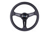 NARDI CLASSIC 340MM STEERING WHEEL - BLACK LEATHER / GREY STITCH