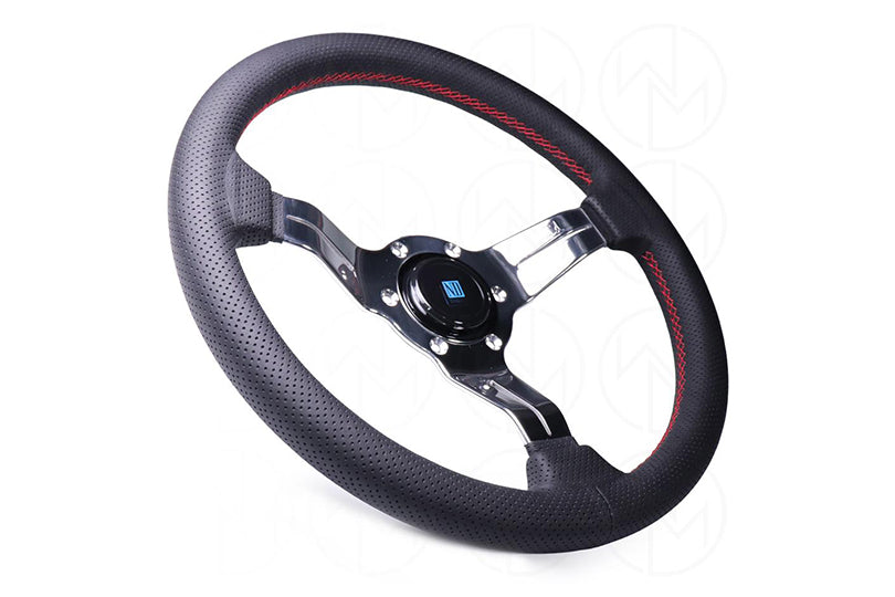 NARDI SPORT RALLY DEEP CORN STEERING WHEEL - PERFORATED LEATHER W/ POLISHED SPOKES