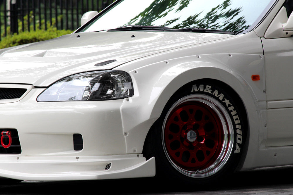 Honda Racing Hyper Widebody Kit 09 00 Civic Ek9 on civic subframe
