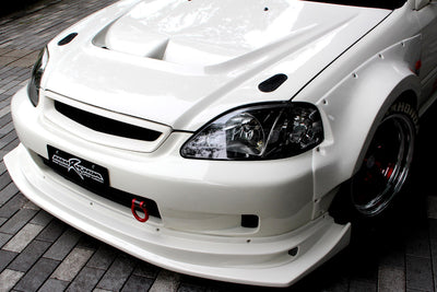 M&M Honda Racing Hyper Front Lip - 99-00 Civic (EK9)