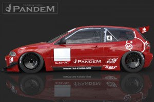 Greddy Pandem by TRA Kyoto Aero Kit - Civic 92-95 (EG)