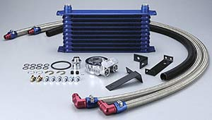 GReddy Oil Cooler Kit - 03-06 Mitsubishi EVO 8/9 (13 row / replaces factory cooler)