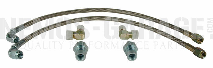 Wilwood Front Flexline Brake Lines - Honda/Acura Applications