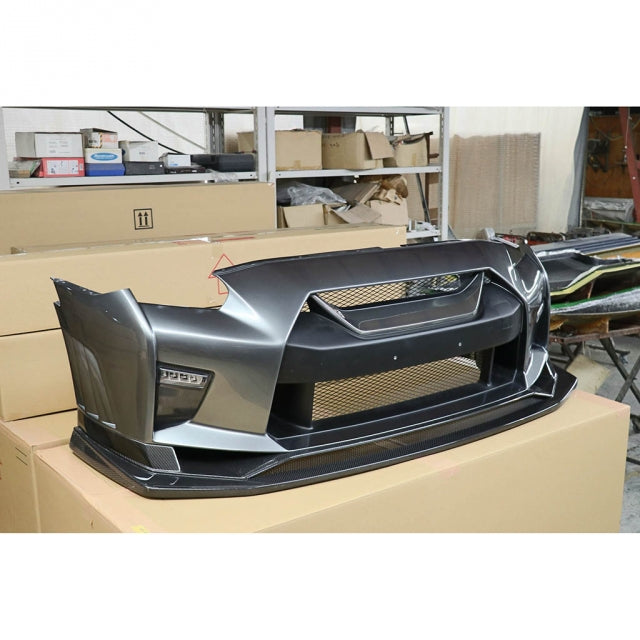 Voltex Front Bumper with Front Fenders - 08+ Nissan GT-R (R35)