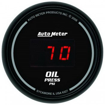 AutoMeter Sport-Comp Digital Oil Pressure Gauge