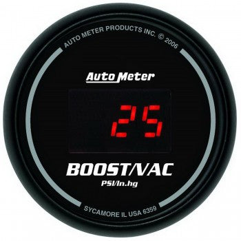 AutoMeter Sport-Comp Digital Boost & Vacuum Gauge