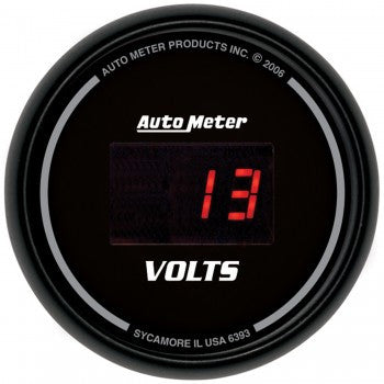 AutoMeter Sport-Comp Digital VoltMeter Gauge