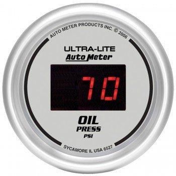 AutoMeter Ultra-Lite Digital Oil Pressure Gauge