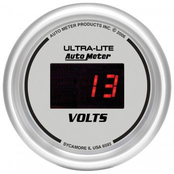 AutoMeter Ultra-Lite Digital VoltMeter Gauge