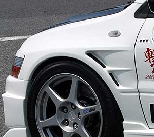 Chargespeed Wide Fenders (Front) - 03-06 Mitsubishi EVO 8 / 9