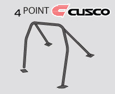 Cusco D1 Roll Cage 4 Point (2 Pass) - Mitsubishi Applications