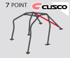 Cusco D1 Roll Cage 7 Point (4/5 Pass) Dash Through-Type - Mitsubishi Applications