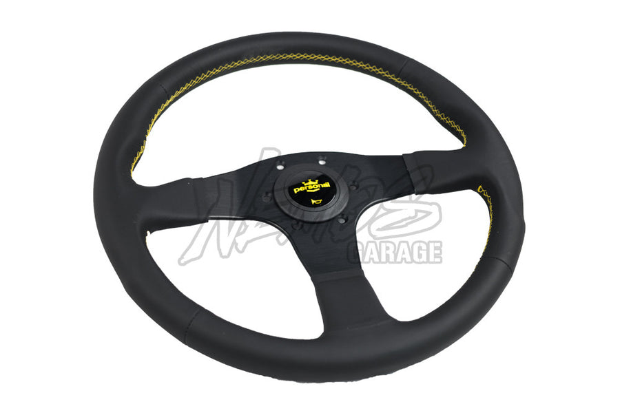 Personal Neo Actis Steering Wheel - 330mm-340mm / Leather / Yellow Stitching