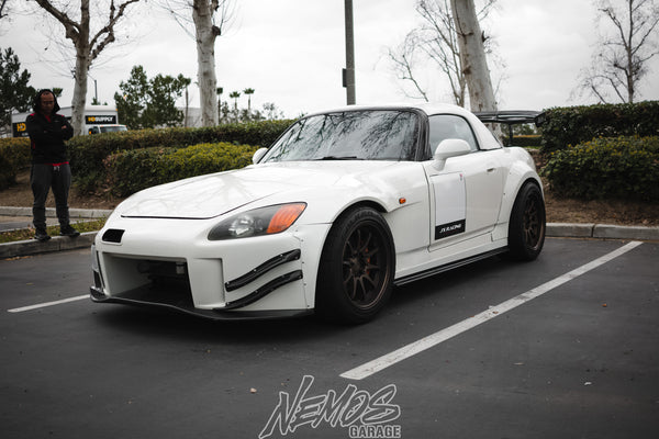J's Racing Canards for S2000 (AP1/2) Type-S Front Bumper