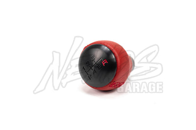 HONDA OEM RED LEATHER BLACK SHIFT KNOB - 2017+ CIVIC TYPE R (FK8)