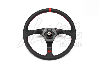 Personal Trophy Steering Wheel - 350mm / Leather / Red Stitching