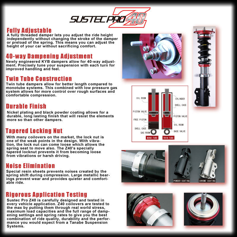 Tanabe Sustec Pro Z40 Coilover - Honda/Acura Applications