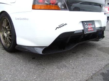 Voltex Rear Diffuser / Undertray - 03-06 Mitsubishi EVO 8 / 9