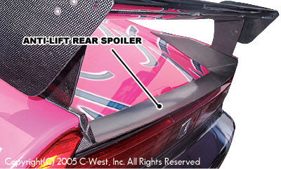 C-West Rear Anti-Lift Spoiler - 91-05 NSX (NA1/2)