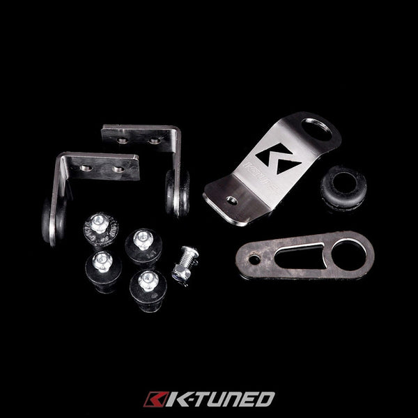 K-Tuned Bolt-On Radiator Bracket Kit for Half Size Rad- 92-00 Civic (EG/EK) / 94-01 Integra (DC)