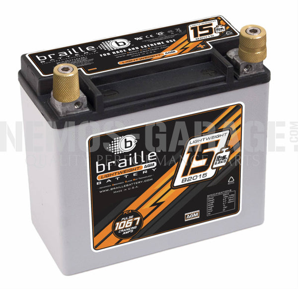 Braille Lightweight AGM Series Batteries - 6.9 to 21 Pounds