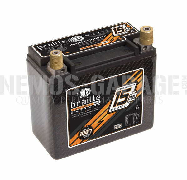 Braille Lightweight AGM Carbon Series Batteries - 6.9 to 21 Pounds