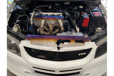 Chasing Js Titanium Valve Cover and Cam Position Heat Shield - Mitsubishi EVO 8 / 9