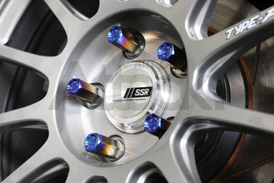 Chasing Js Titanium Extended Closed End Lug Nuts (M14) - 2017+ Civic Type-R (FK8)