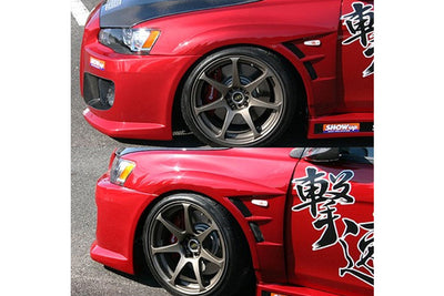 ChargeSpeed D-1 Wide FRP Fenders (Front) - 08-15 Mitsubishi EVO 10