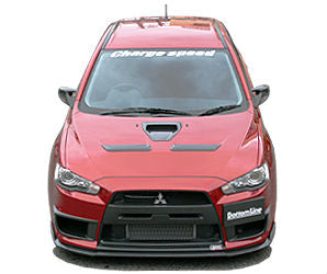ChargeSpeed Bottom Line Type-2 Front Lip FRP - 08-16 Mitsubishi EVO X