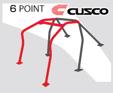 Cusco D1 Roll Cage 6 Point (4/5 Pass) Dash Through-Type - Mitsubishi Applications