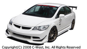 C-West Front Bumper - 06-11 Civic Sedan w/ JDM Front End (FA5)