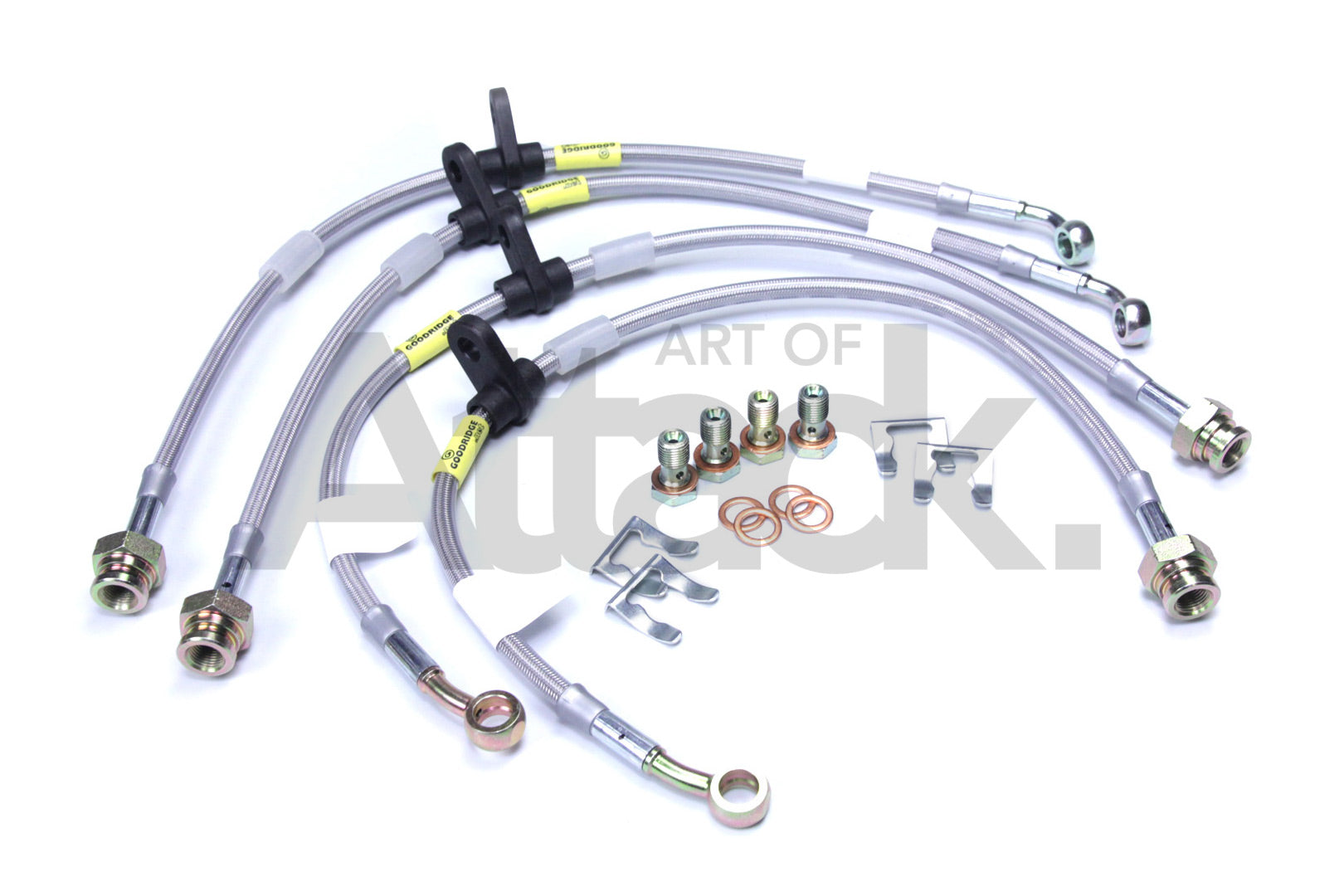 REAR BRAKE LINES FOR 02-05 HONDA CIVIC Si EP3 STOPTECH STAINLESS BRAIDED FRONT