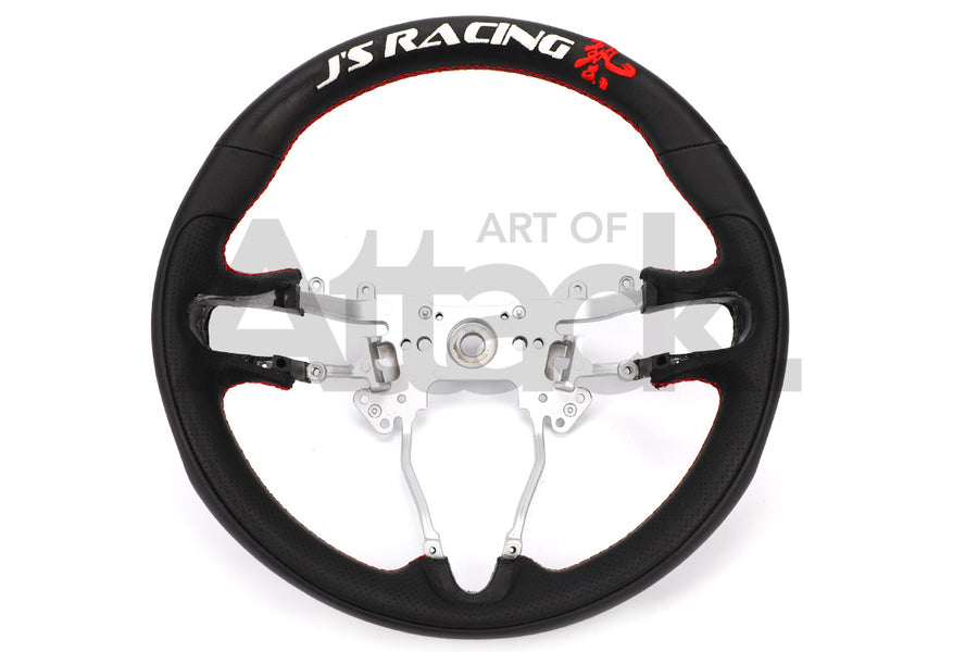J's Racing Sports Steering Wheel - 06-11 Civic (FA/FG) / 15+ Fit (GK)