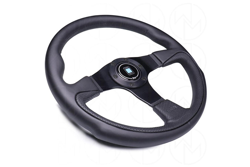 Nardi Challenge Steering Wheel - 350mm Combo Leather w/Black Stitch