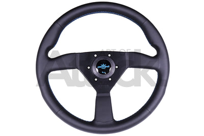 Personal Neo Eagle Steering Wheel - 340mm / Leather / Blue Stitching