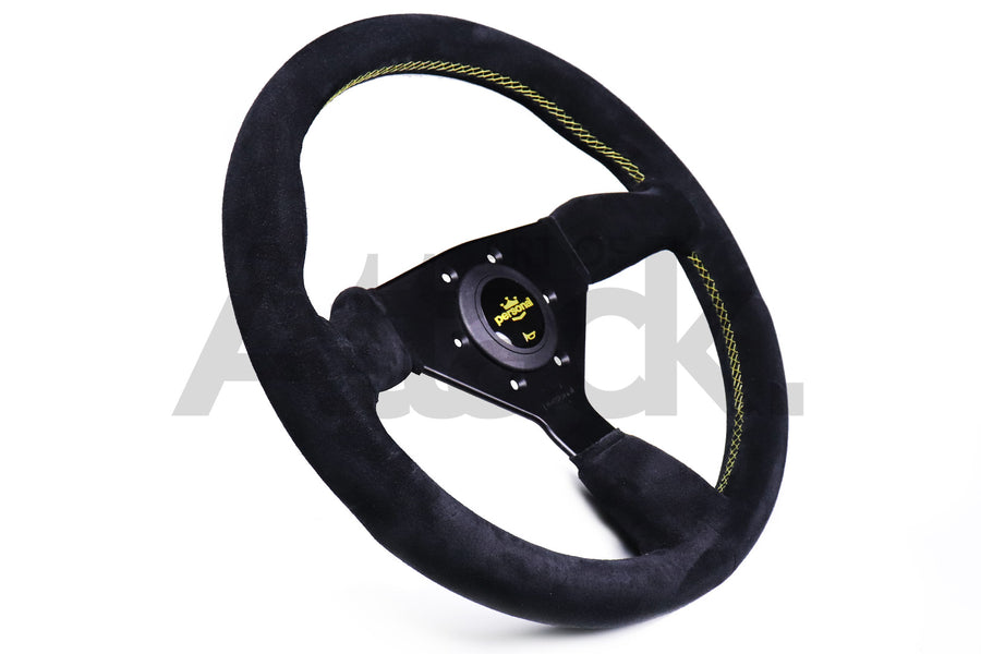 Personal Grinta Steering Wheel - 330mm-350mm / Suede / Yellow Stitching