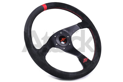 Personal Trophy Steering Wheel - 350mm / Suede / Red Stitching