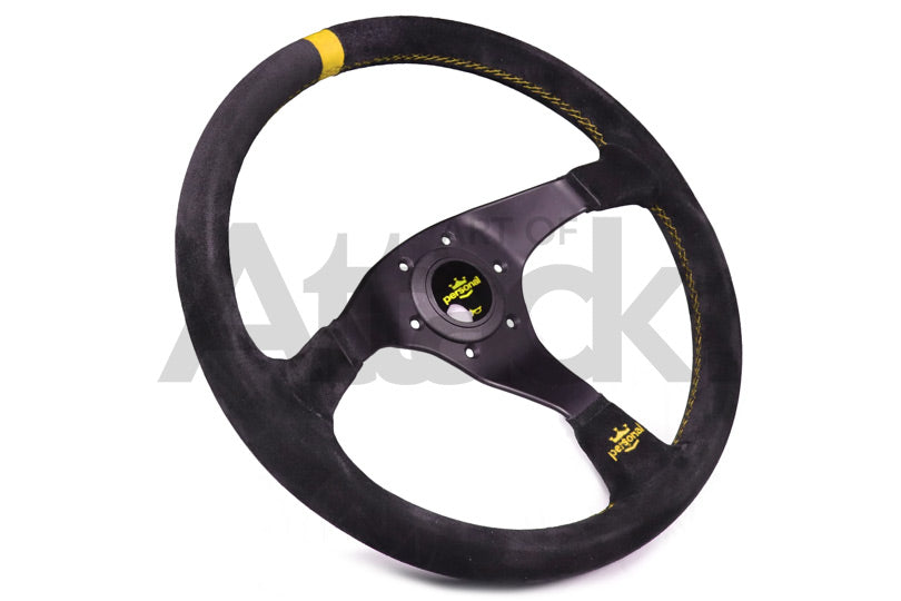 Personal Trophy Steering Wheel - 350mm / Suede / Yellow Stitching