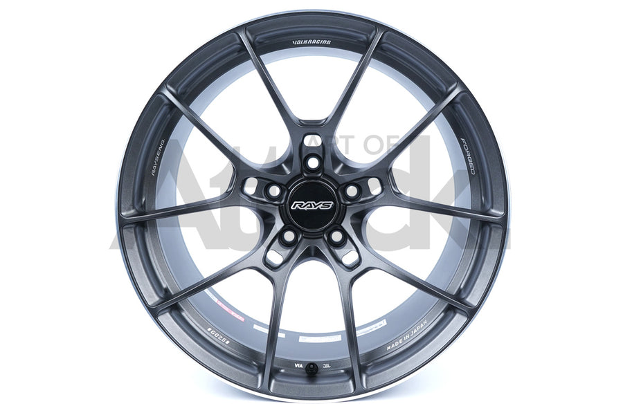 "Volk Racing G025 18-20"" Wheel (Face-2) - Matte Gunblack / Rim Edge DC"