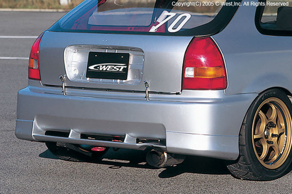 C-West Rear Bumper - 96-00 Civic Hatchback (EK)