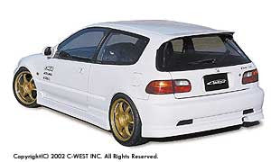 C-West Side Skirts - 92-95 Civic Hatchback (EG)