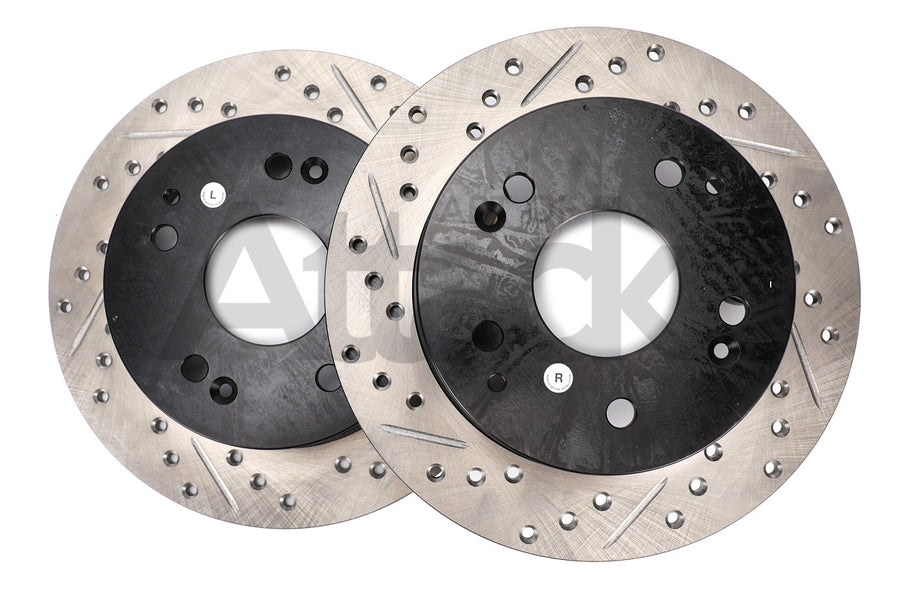 Stoptech Drilled & Slotted Rotors (Rear) - Honda/Acura Applications