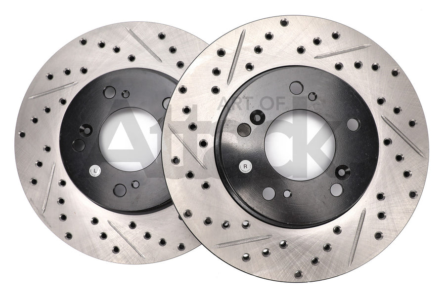 Stoptech Drilled and Slotted Rotors (Front) - Honda/Acura Applications